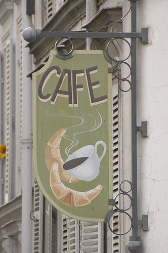 cafe sign - coffee aroma ...