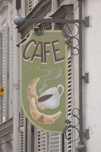 cafe sign - coffee aroma ...