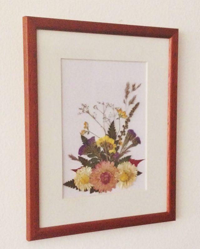 Préselt virágból készült falikép pressed flower picture