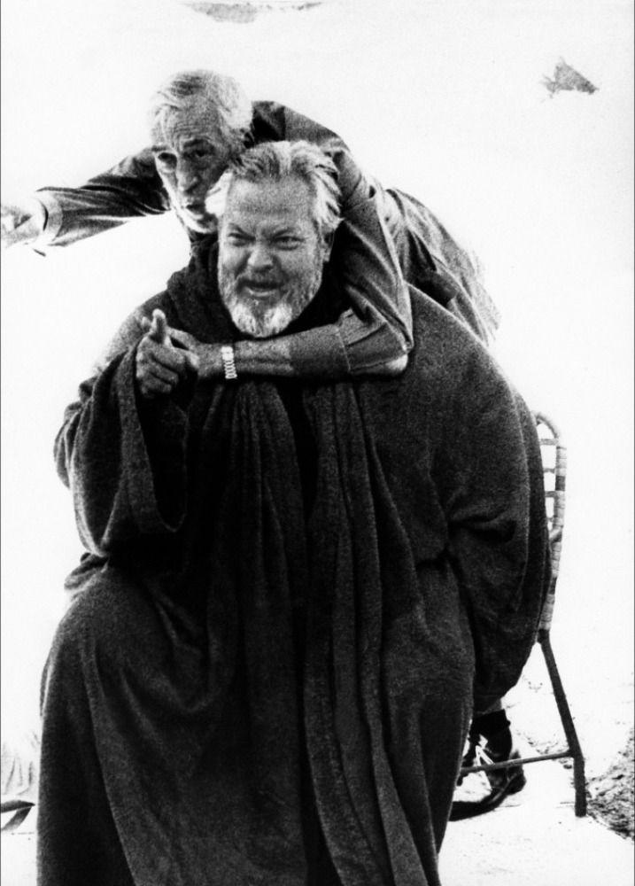 John Huston and Orson Welles.