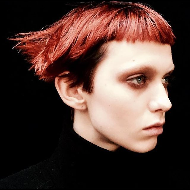 """Alexandra Gurvitch, Vogue.com Photo Researcher - """"Model Katie Moore's punk Manic Panic crop is my fall-winter dream cut. So chic and edgy at the same time. If only my hair was a different texture and could take dye . . . oh and guts. Totally need guts."""""""