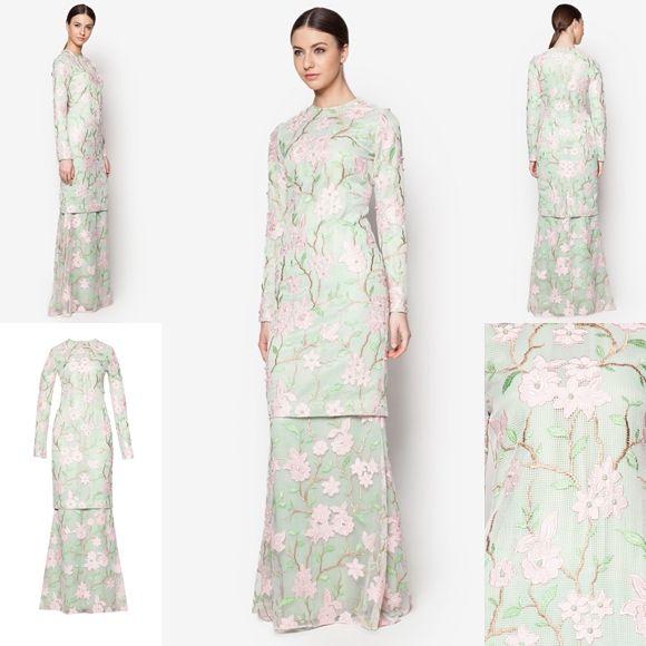 Fesyen Trend Terkini Bianco Mimosa Alysiella Baju Kurung Moden Baju Raya 2017