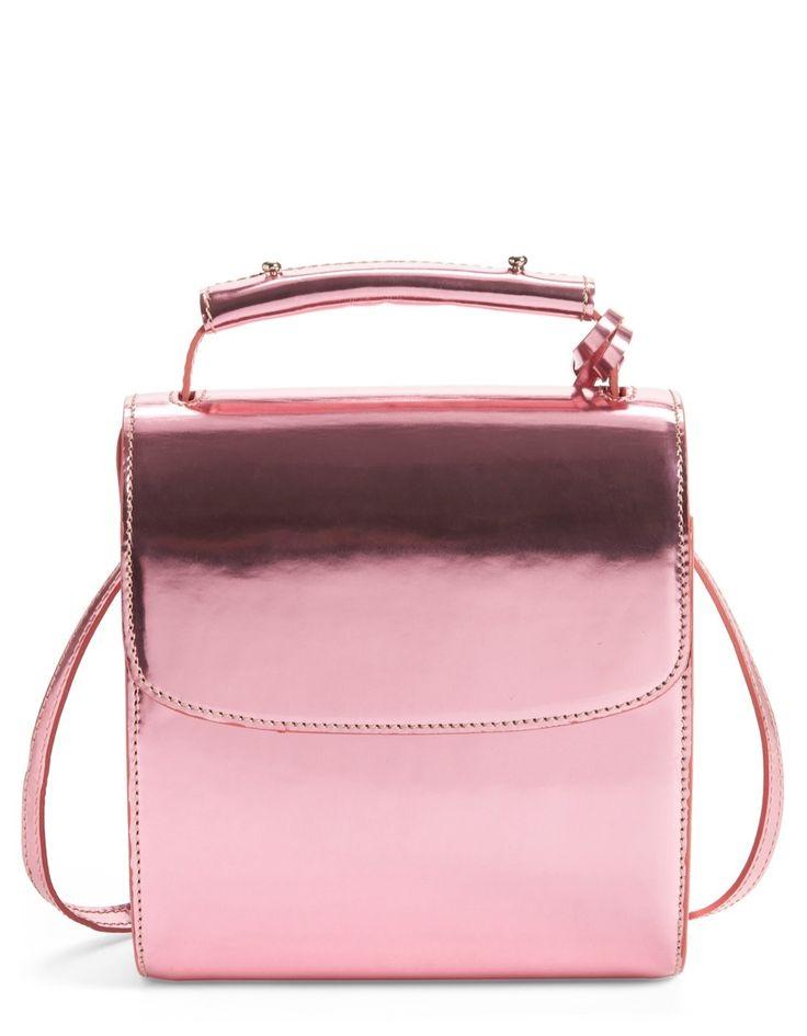 Metallic Pink Leather   Architect's Fashion