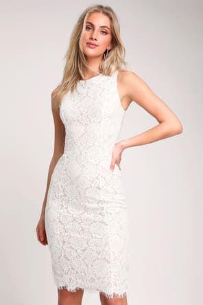 8a0ae2f19e Corita White Lace Sleeveless Midi Dress
