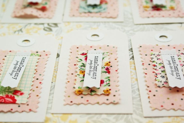 Fabulous fabric labels, possible party invites for my little lady's tea party