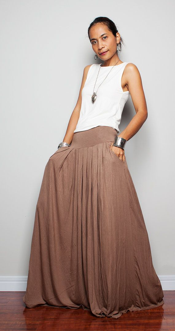 Brown Long Skirt 18