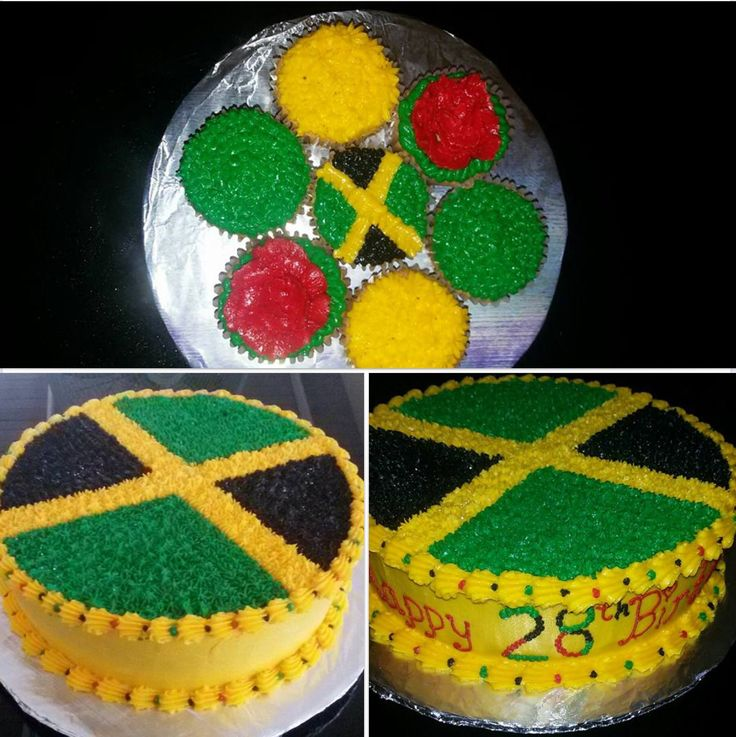 Jamaica Flag cake.
