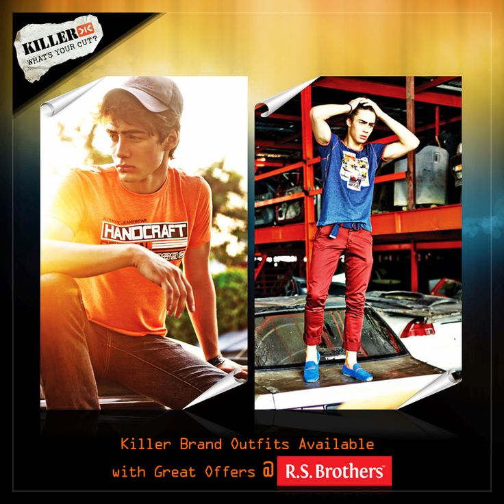 Be a Style Icon by Refreshing your Look with ‪#‎Killer‬ Brand outfits from ‪#‎RSBrothers‬. Men's top branded outfits in latest designs now available with great offers @R.S.Brothers.
