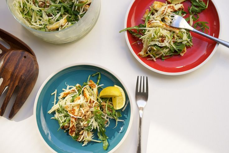 Celeriac, apple and haloumi salad with a tangy dressing, from CookSophieCook