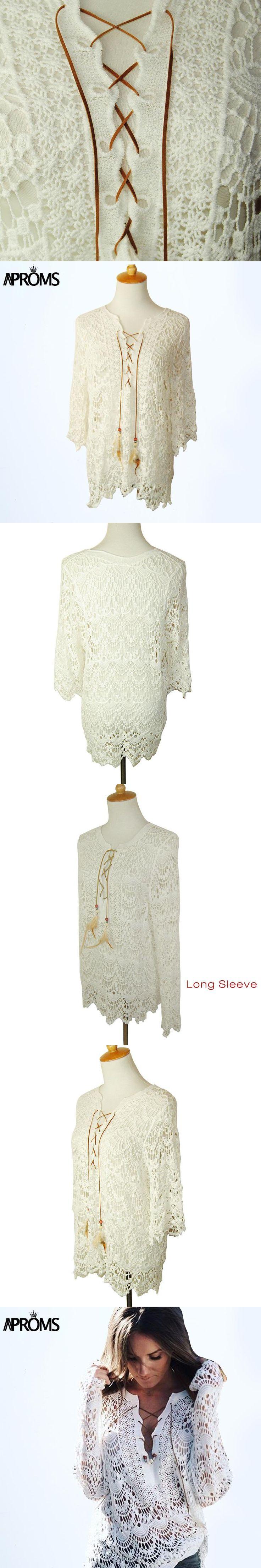 Autumn Elegant White Lace Blouse Tunic Shirt Women Tops 3/4 Sleeve Vintage Girls Blouse 2017 Sexy V Neck Renda Blusa 40445