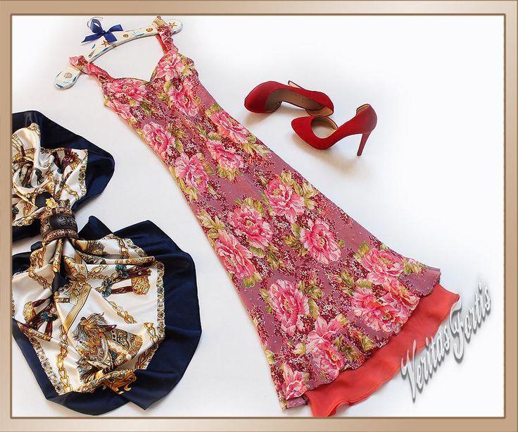 MONSOON Sukienka w Kwiaty z cekinami 36/38/S/M