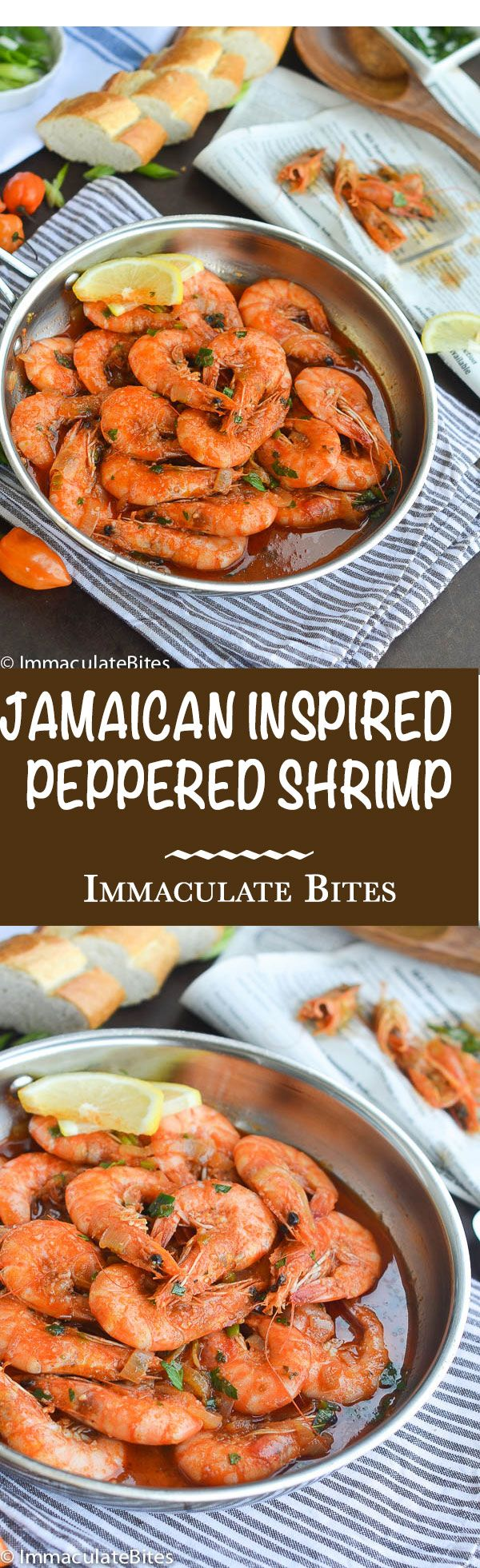 Jamaican inspired peppered shrimp- from the