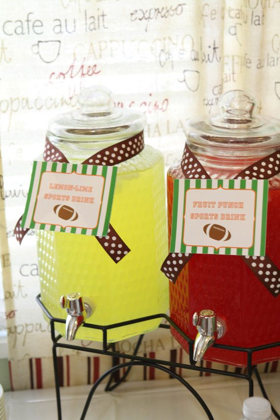 What a great idea for non-alcoholic drinks at your Football Themed Wedding!  <3 Fun, fun, fun!!  #wherebridesgo