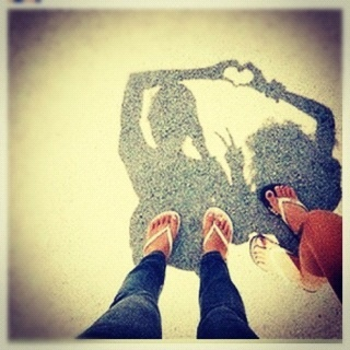 Cool .... @joyfulmissy we need to do this when we go out somewherr when it's sunny :)