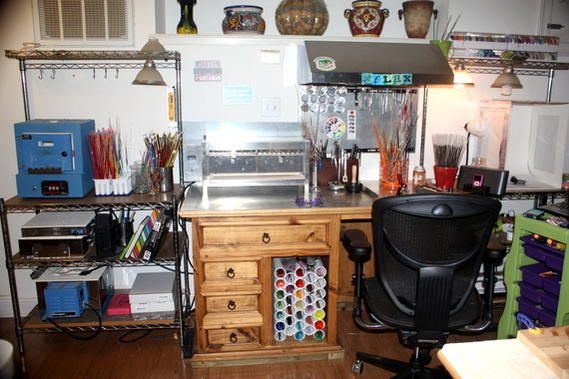 My Studio....Finally finished.....maybe! - Lampwork Etc.
