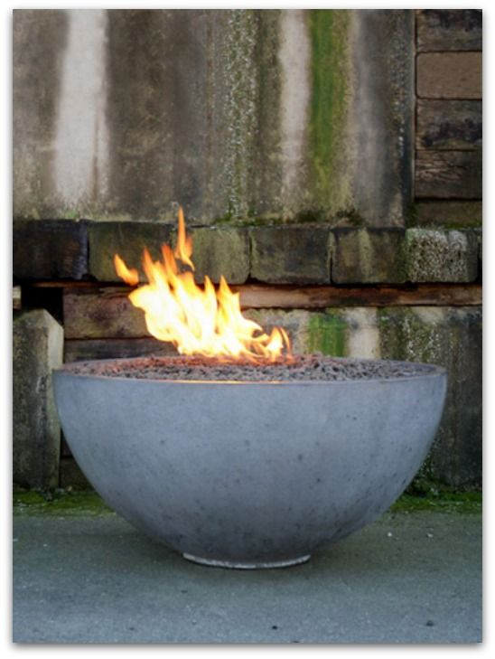 DIY Concrete fire pit bowl, Amazing DIY Backyard Ideas