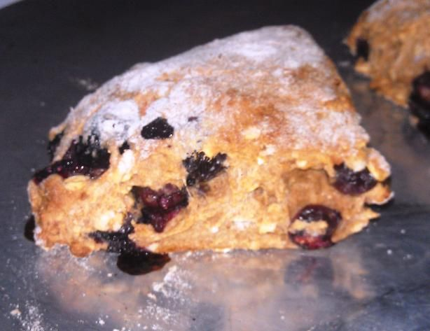 Easy Blueberry Almond Scones- I added both vanilla and almond extract ...
