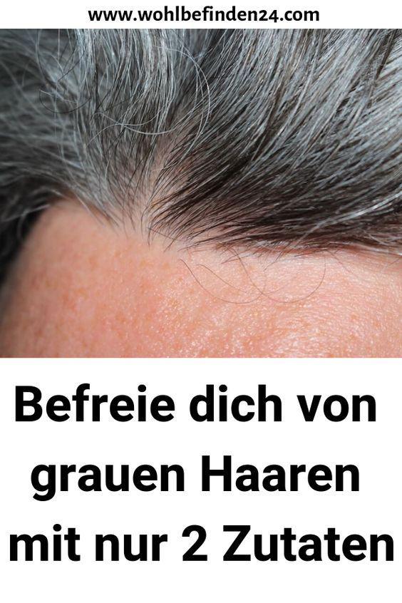 Befreie dich von grauen Haaren mit nur 2 Zutaten #gesundheit #Haarschnittlangeha…