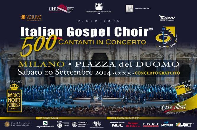 Il più grande coro gospel italiano torna, sabato 20 settembre alle ore 20.30, nella piazza più centrale di #Milano, con cinquecento cantanti e coristi provenienti da tutt'Italia, che si esibiranno in alcuni dei più significativi brani della tradizione gospel. Concerto Gratuito. #duomodimilano #milancathedral #AdottaUnaGuglia #GetYourSpire