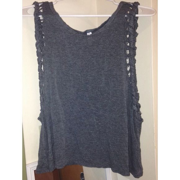 Medium Grey Hipster top Super cute for any activity and occasion. Very comfy and in great condition!!! Xhilaration Tops Tank Tops