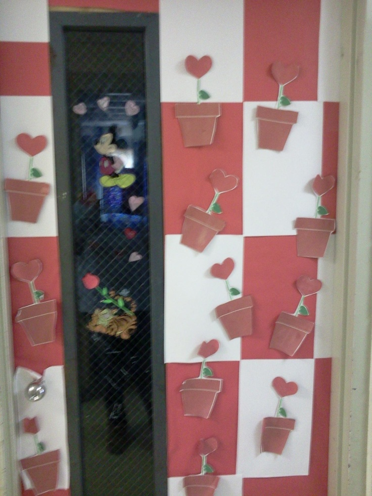 Classroom Decoration For Valentines ~ Valentine s classroom door decorations growing hearts