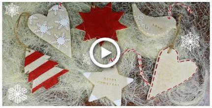 salt dough recipe & Christmas Cookie Ornaments TUTORIAL (no polymer clay)