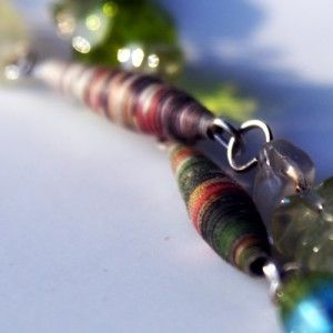 Paper bead necklace: Crafts Ideas, Jewelry Crafts, Glasses Beads, Beads Necklaces, Rolls Paper, Jewelry Paper, Paper Beads, Paper Crafts, Beads We