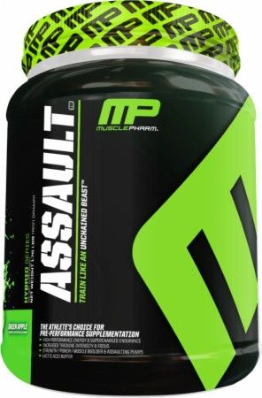 Assault by Muscle Pharm was formulated to ignite and fuel muscle growth, increase power output, support concentration and focus, and supercharge muscle energy and stamina.
