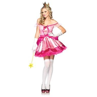 Delightful Pink Princess Costume - Sexy Princess Peach Costumes - Halloween Costumes - Youth and Adult Halloween Costumes  sc 1 st  Pinterest & 35 best Video Game Costumes images on Pinterest | Video game ...