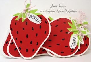 strawberry invitations using my Silhouette Cameo
