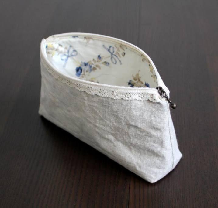 Anleitung/Tutorial Tasche mit Spitzenreißverschlusshow to sew a lace zip on a purse >> picture tutorial | °bozontee