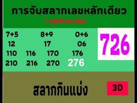 Thai lottery 3up set formula 726 win New win 3up formula for