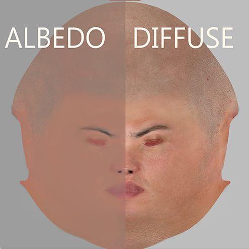 Albedo and Diffuse maps comparison