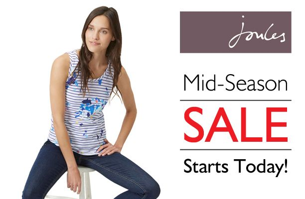 NOW LIVE - Hurry, the Joules Mid-Season Sale has already started!