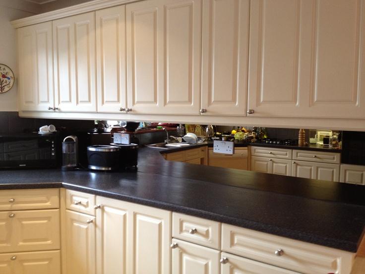 Bronze Mirror Kitchen Splashback Home Kitchen