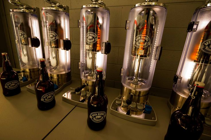 BEER BARREL is a growler filling station with freezers of craft brews, and proprietary growler-filling system