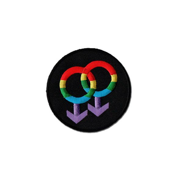 Patch LGBT - Gay symbole brodé de fer sur Patch, LGBT fer sur Applique