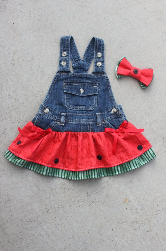 Overall Dress Tutu Girls Overall Dress by JustFrayinAround on Etsy