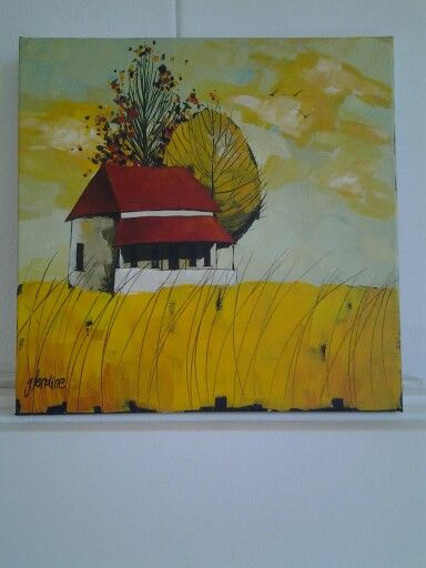 'Karoo cottage' Acrylic on canvas by Glendine