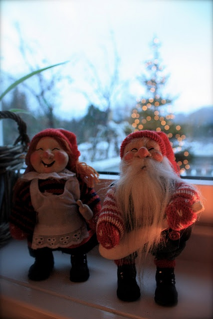 Christmas in Norway - Santa's Elves - actually they have another name - my mother told me, but for the life of me I cannot remember - {I'm 65 & things are going fast}.  If anyone of you knows please leae a comment.