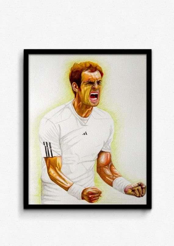 Check out this item in my Etsy shop https://www.etsy.com/listing/173474730/andy-murray-tennis-pastel-pencil-drawing