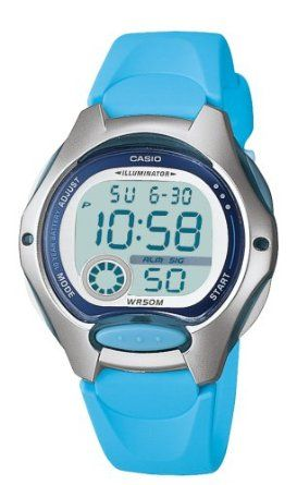Casio Womens LW200-2BV Digital Blue Resin Strap Watch