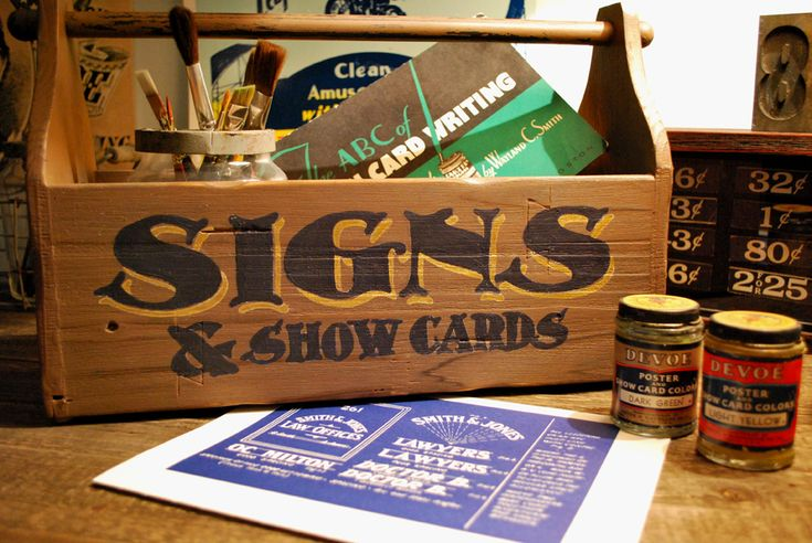 17 Best Images About Sign Painters Kit On Pinterest Folk