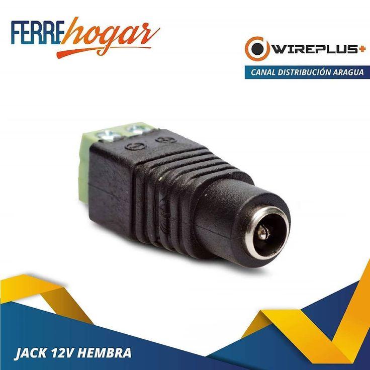 Conector De Corriente Plug 12v Hembra 2.1mm Cctv  #Ferrehogar #redes #cat5e #cat6 #wireplus #circuitocerrado #internet #telefono #cctv