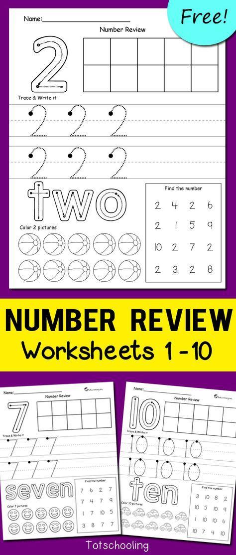 number review worksheets crafts kindergarten worksheets rh pinterest com