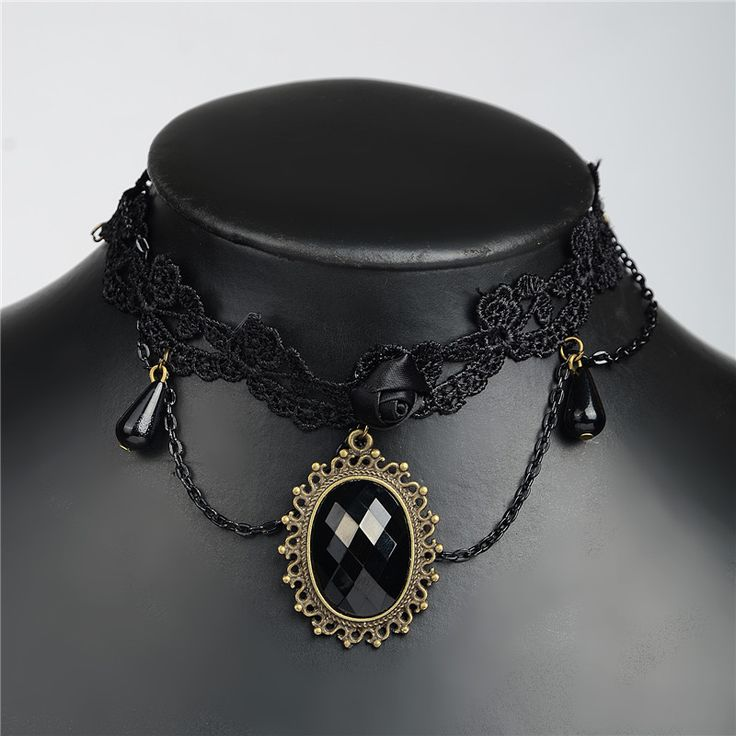 Vintage Gothic Flower Lace Choker Necklace