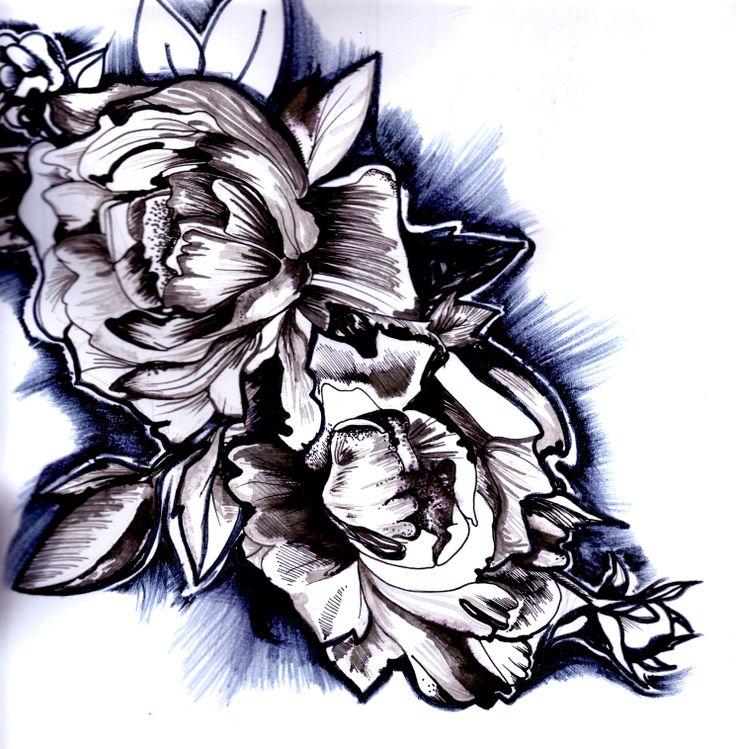 flower. ink. maja barańska