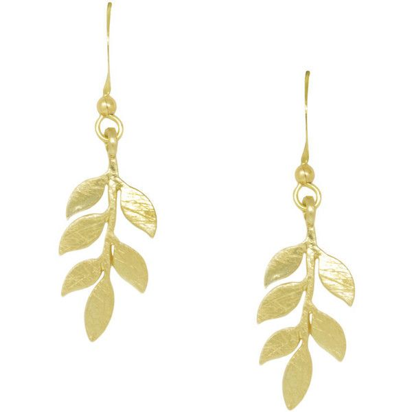 White Leaf Simple Leaves Earring ($14) ❤ liked on Polyvore featuring jewelry, earrings, metallic, earring jewelry, fish hook earrings, fishhook earrings, leaves jewelry and fish hook jewelry