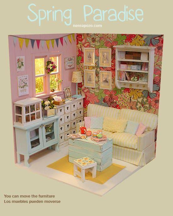 Olá!     A Nerea Pozo  é uma artista que eu admiro muito! Ela faz coisas maravilhosas! Os dioramas dela são tão lindos e perfeitos que séri...