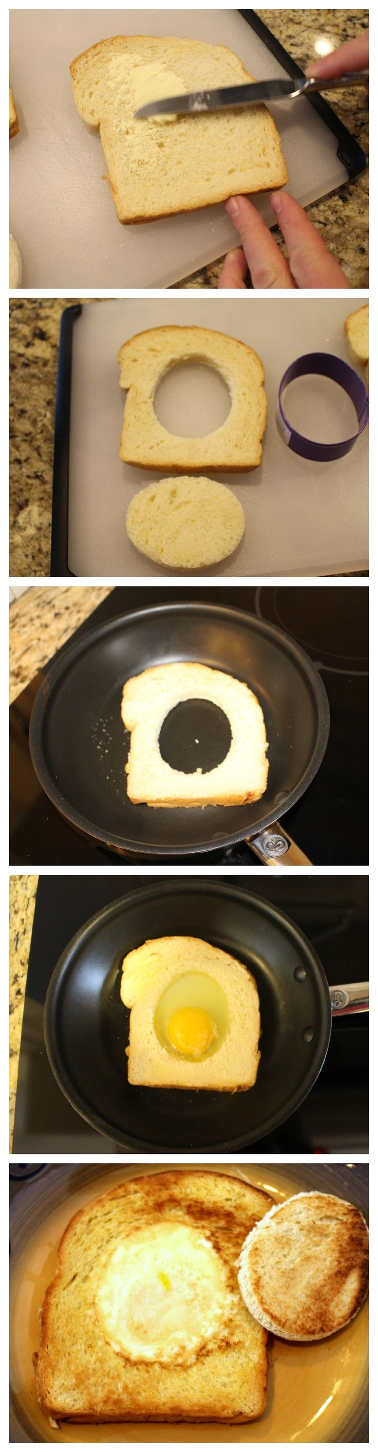 How to make an egg in a hole